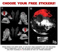 K9 Hearts R2D2 Free stickers by zerobriant