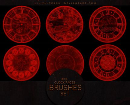 Clock Faces Brushes #5 by Lilith-Trash