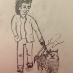 Shiv and his dog by KCruise