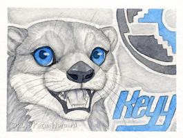 Keyy Otter Badge by Shadow-Wolf