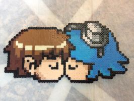 -Perler- Scott and Ramona by OtakuLuka