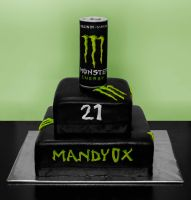 Monster Energy Cake by my Mom and Me by Mandy0x