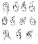 Work Sketches: Kitsune Headshot Concepts by EnvyMachinery