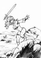 Red Sonja Gabriel Andrade Jr by GAJr