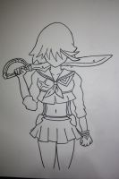 Faceless Matoi Ryuko by mikey4realz