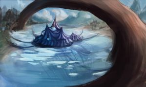 The Winter Circus - The traveling circus by skybrush