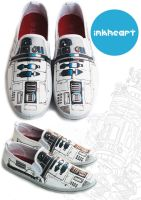 R2D2 custom shoes star wars by felixartistixcouk
