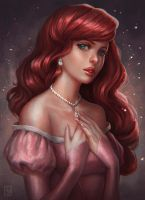 Princess Ariel [SpeedPaint Video] by serafleur