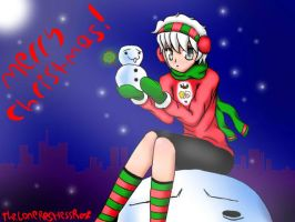 Snowman - CHRISTMAS DRAWING CHALLENGE - DAY 7 by TheLoneRestlessRose