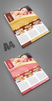 Beauty Spa Flyer Template by Saptarang