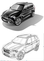 realistic vector art BMW x5 by VVsweet666