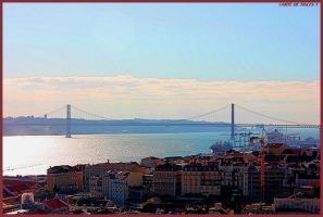 LISBON, THE BRIDGE, THE TAGUS by Tigles1Artistry