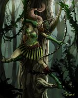 Elf Archer Beauty Shot by mansarali