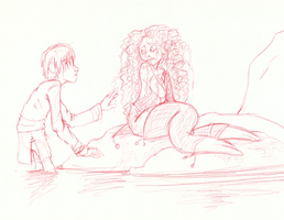 The Selkie Girl--Mericcup AU by AugustRaes