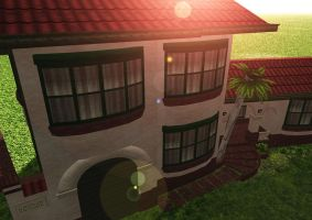 Low Poly Spanish Mission HomeC by Ixionx