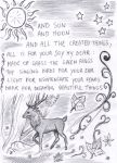 Saturnalia Greeting card 2 - Stag by FuriarossaAndMimma