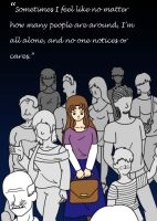 Alone in a crowd by catqueen5