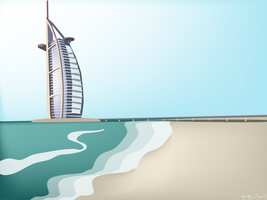 burj al arab daylight by arturog