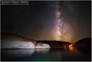 Lake Powell and Galaxies by tourofnature