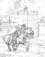 Dwarven Cavalry Pencils by JerMohler