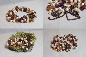 Brandy Pearls Bracelet by ACrowsCollection