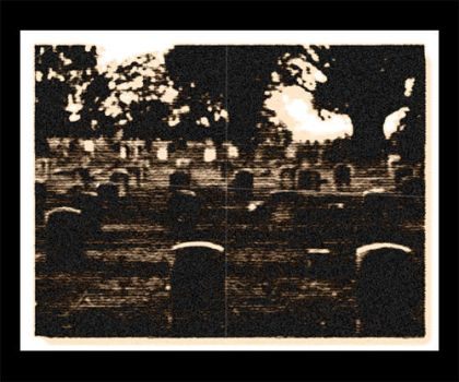 Cemetary At Sunset by silentone2k2
