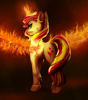 Mare on Fire by MykeGreywolf