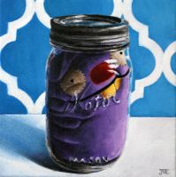 Ugly Doll in a Jar #2 by JessicaEdwards
