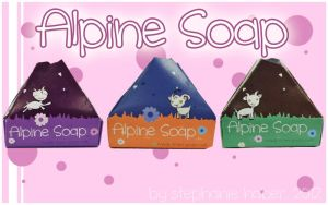 alpine soap, packaging designs. by stephhabes