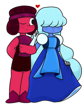 Ruby n' Sapphire by PinkuNoHato