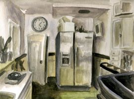 Portrait of our Kitchen by tomato-bird