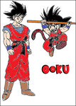 Goku Adult and Child by rkq