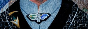 Jacket and pin by Crystalen-Designz