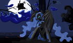 Nightmare Moon  in Ms-Paint by sallycars