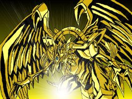 Golden Winged Dragon Of Ra by Astika