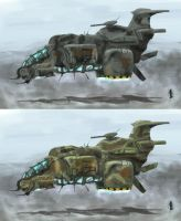 light guerilla gunship by krassnoludek