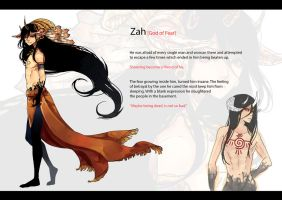 JoG: Zah the god of fear by MarionetteBiri
