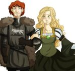 ASOIAF: Robb and Myrcella by imperially