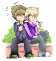 Sora And Roxas 2010 by souerlemon