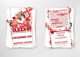 We love Buddha Lovesick flyer by homeaffairs