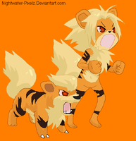 Growlithe Anthro Girl by Dinalfos5
