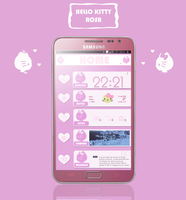 Hello kitty ROSA theme for android by LadyPinkilicious