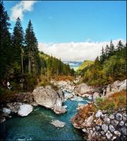 Mountain stream by jup3nep