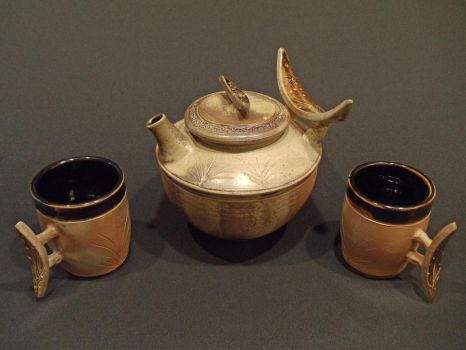Wood Fired Tea Set by rhodespottery