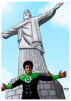 john stewart green lantern_in Rio. by Troianocomics