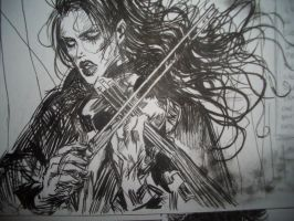 Caelpher playing violin by CaelpHer