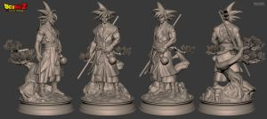 Goku - Sculpt by Bruno-Camara
