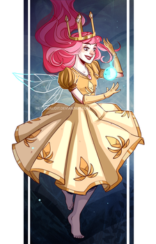 Child of light - Aurora and Igniculus by HetteMaudit