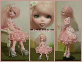 monster high custom repaint Lolita in kawaii style by Rach-Hells-Dollhaus
