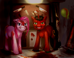 Pony Commission - Pinkamena and Gaius by enigmatia